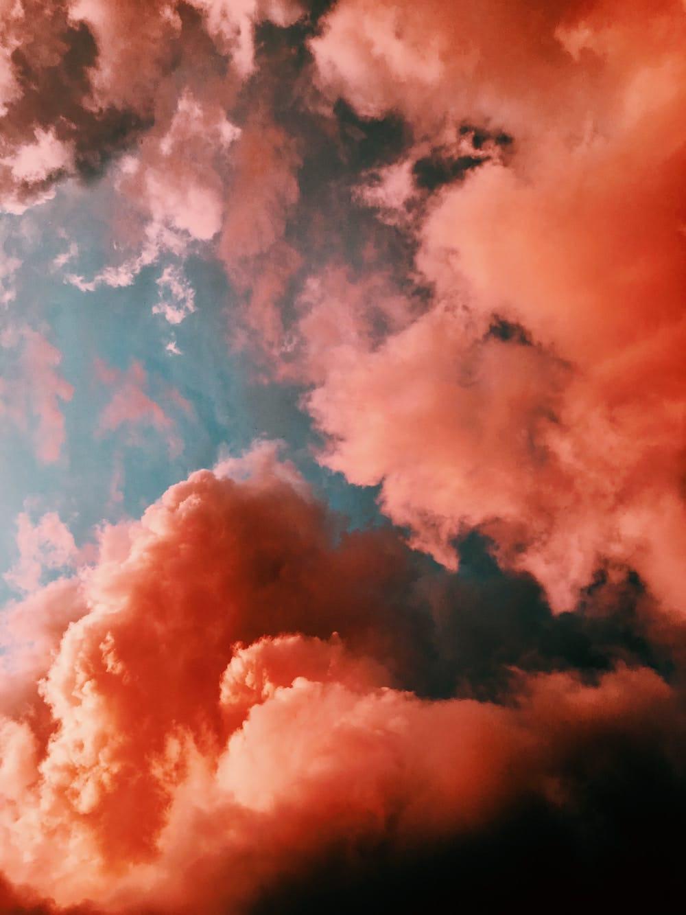 nuage orangée