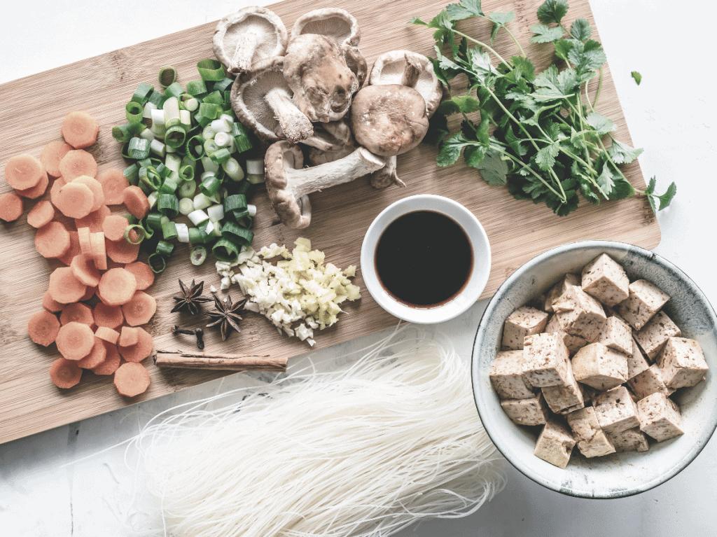 tofu et aliments